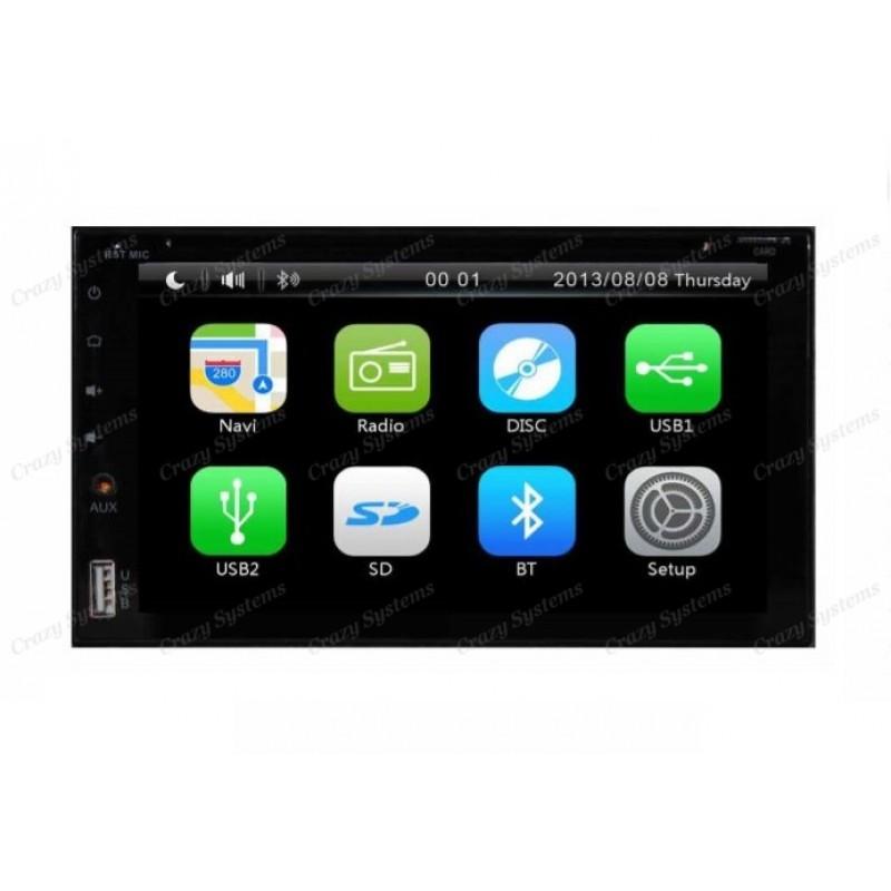 DrivePro DPR6261 Capacitive Touchscreen, DVD, Navigation Ready, MirrorrLink, BT