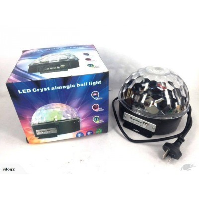 Disco LED Light with speaker and built in USB and SD slot for Mp3 music
