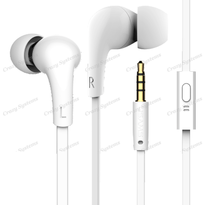 USAMS SJ076 In-ear Waterproof Wired Control Electroplated Earphone Headphone Wit