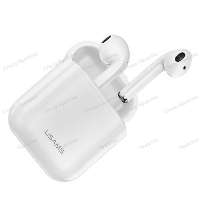 USAMS US-LC001 iPhone In-Ear Bluetooth Headphones & Charger Box *Earpod Style*