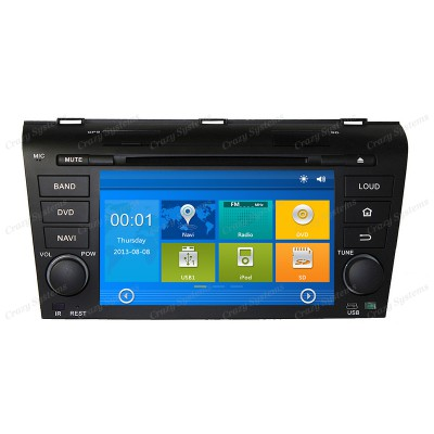 Mazda 3 / Axela Win6.0 OEM Radio (2003-2008) **HD Capacitive Screen|GPS|BT|DVD**