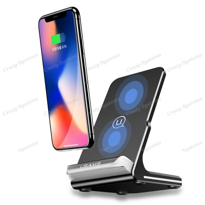 USAMS US-CD28 10W Qi Wireless Charger Holder Fast Charging Dock