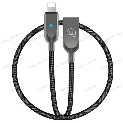 USAMS US-SJ170 1.8M Lightning Data Sync Charging Cable with Auto Turn Off featur