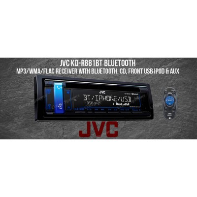 JVC KD-R486 CD USB AUX MP3 Android USB Playback NZ Tuners 1x Pre Out Car Stereo
