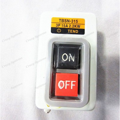 Three Phases Power On Off Control Start Switch AC 380V 15A 2.2KW