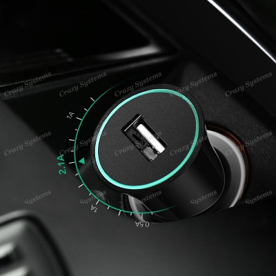 USAMS US-CC036 Trumpet 12V-24V Smart USB Car Charger
