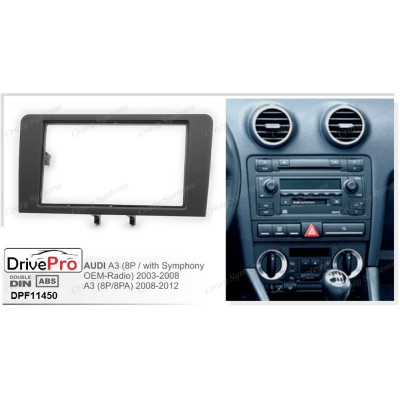 AUDI A3 (8P/with Symphony Radio) 2003-2008 / A3 (8P/8PA) 2008-2012 - Fitting Kit