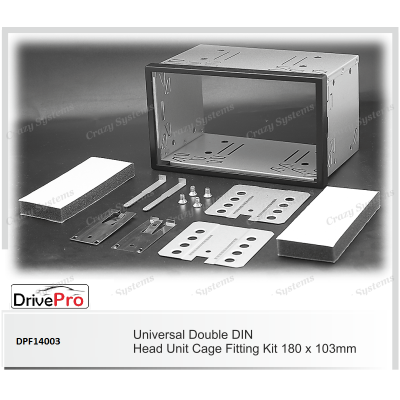 UNIVERSAL Double Din Fitting Cage (180 x 103 mm) - Fitting Kit