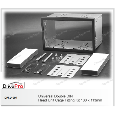 UNIVERSAL Double Din Fitting Cage (180 x 113 mm) - Fitting Kit