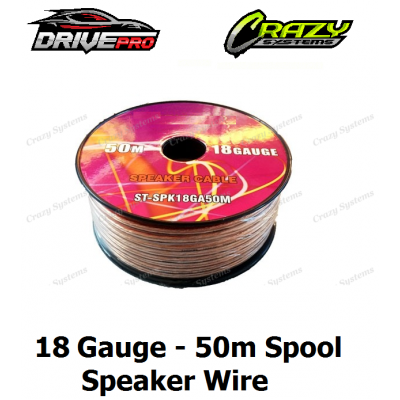 18 Gauge Speaker Wire - 50m Spool