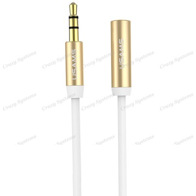 USAMS US-SJ055 1M Earphone 3.5mm Aux Cable Extension Lead