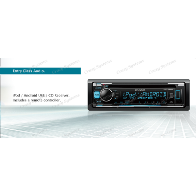 KENWOOD KDC-200UV CD RECEIVER WITH IPOD / ANDROID USB 2 PreOuts