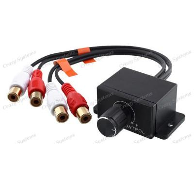 Car Amplifier RCA Bass Gain Level Remote Control Adjustment Knob