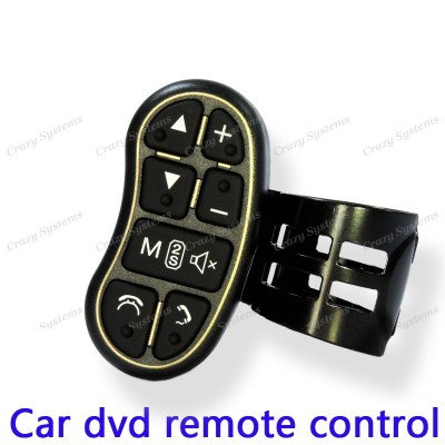 Car Radio Wireless Steering Wheel Control Buttons Clip on Remote