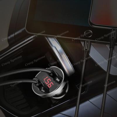 USAMS US-CC045 2.1A Dual USB Port Car Charger with LED Digital Display