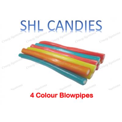 4 Color Blowpipes Candy *SHL Candies* - (apx 200pcs/ctn)