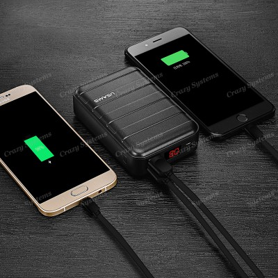 USAMS US-CD14 Suitcase Design 20000mAh Dual USB Power Bank Battery Charger