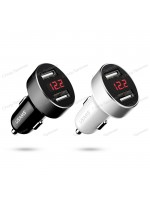 USAMS US-CC045 2.1A Dual USB Port Car Charger with LED Digital Display