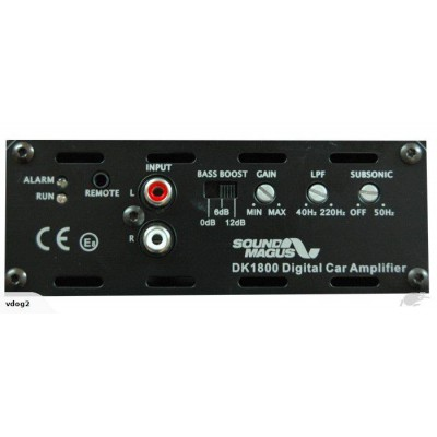 SOUNDMAGUS DK1800 CLASS D - 1800w RMS MONO AMP - 1O STABLE