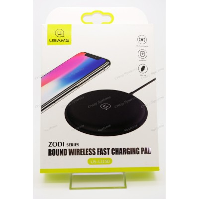 USAMS US-CD30 Zodi Series Round 10W Qi Wireless Fast Charging Pad