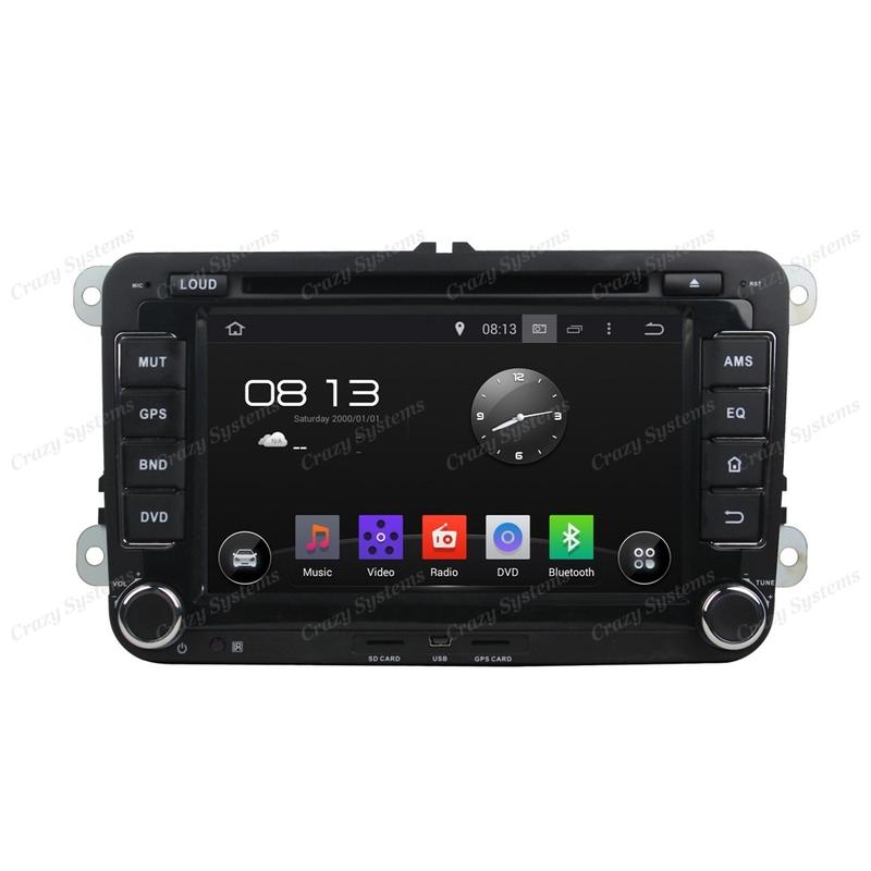 "VW 7"" Screen Android 7.1 Radio - GPS, DVD, Bluetooth, WIFI, MirrorLink"