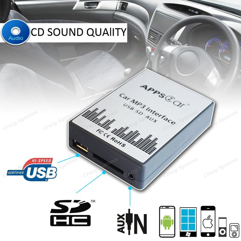 Toyota Small Plug Usb Aux Sd Integration Car Kit