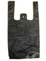 *Large* Black T-Shirt Plastic Carry Bags *2000pcs/box*
