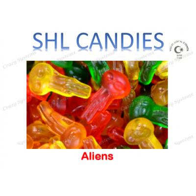 Gummi Aliens Candy *SHL Candies* - (2kg bag | apx 405pcs)