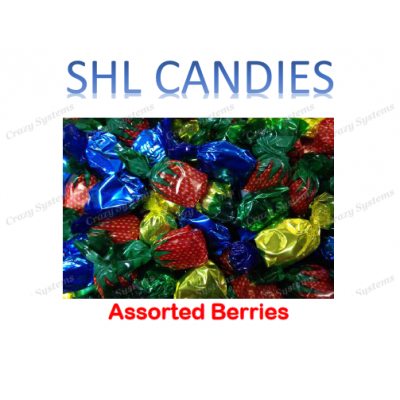 Assorted Berries Wrapped Hard Boiled Candy *SHL Candies* (2kg bag | apx 328pc)