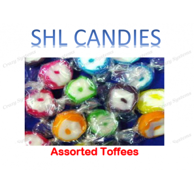 Assorted Toffees Wrapped Candy *SHL Candies* (2kg bag)