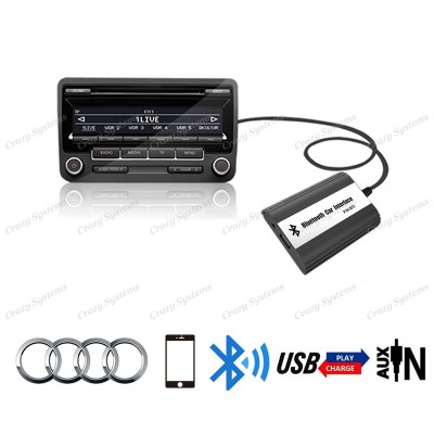 DrivePro Audi VW Skoda Seat (12pin) Bluetooth Usb Aux Integration Car Kit