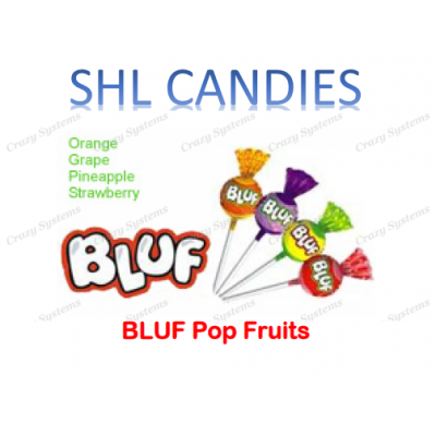 Bluf Pop Fruit Lollipops Wrapped *SHL Candies* (2.1kg bag | apx 400pc)