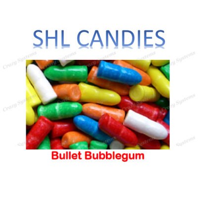 Bullet Bubblegum *SHL Candies* (1.5kg bag | apx 475pcs)