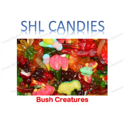 Gummi Bush Creatures Candy *SHL Candies* - (2kg bag | apx 300pcs)