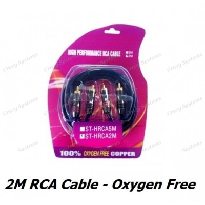 High Quality 2m Oxygen Free RCA Cable