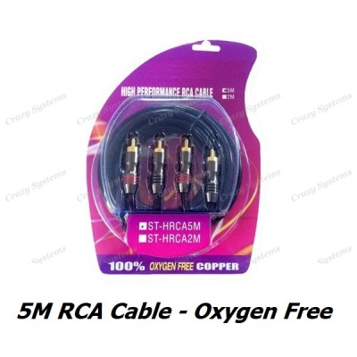 High Quality 5m Oxygen Free RCA Cable