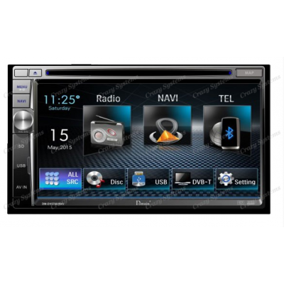 "Domain DM-DV5768NVI 6.75"" - GPS/DVD USB/AUX/BT/FM/AM Radio"