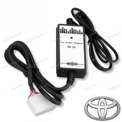 Wide (5+7pin) Plug Toyota Aux Integration Cable **DrivePro Car Kits**