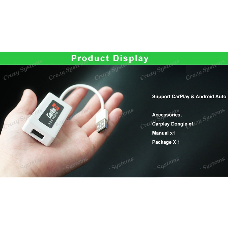 3in1 CarPlay / Android Auto / Screen Mirroring Adapter for