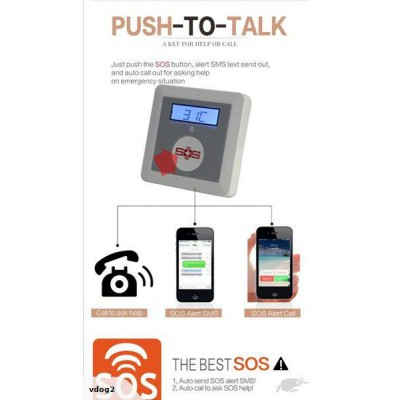 Elderly Wireless/GSM Emergency/Panic Alarm System - With Wrist & Pendant Button