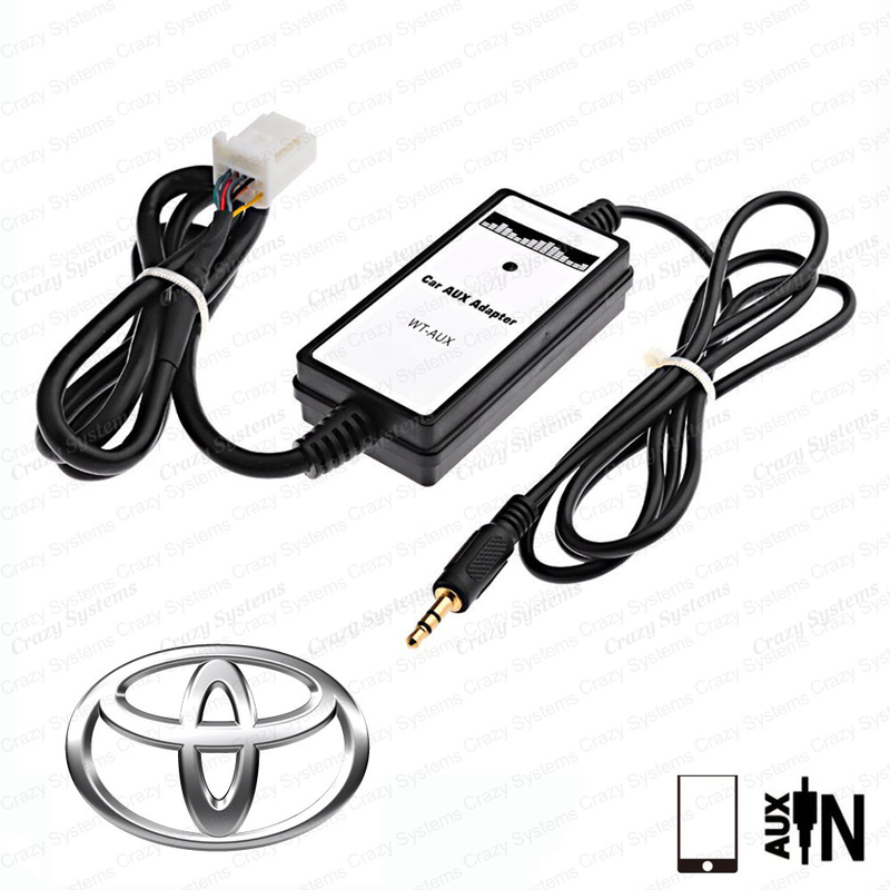 Toyota Small Plug Aux Integration Cable