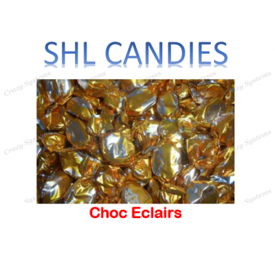 Chocolate Eclairs Wrapped *SHL Candies* - (2kg bag)