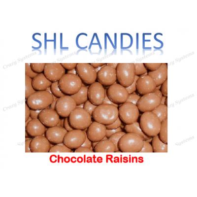 Chocolate Coated Raisins *SHL Candies* - (2kg bag)