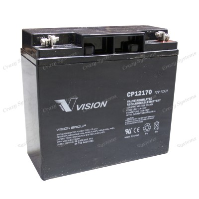 CP12170 12V 17Ah/20Hrs Vision AGM VRLA Rechargeable Battery