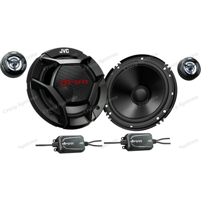 "JVC (CS-DR600C) 6-1/2"" 2-WAY COMPONENT SPEAKERS / 360W MAX POWER"