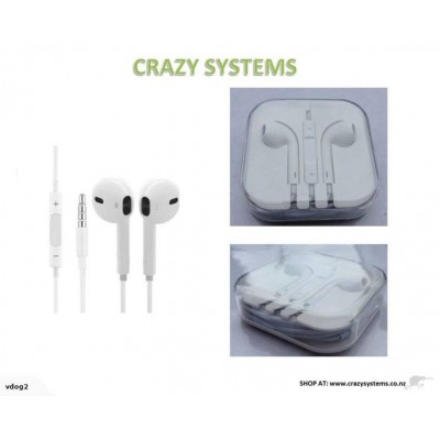 Iphone Style Headphones **with remote and mic**
