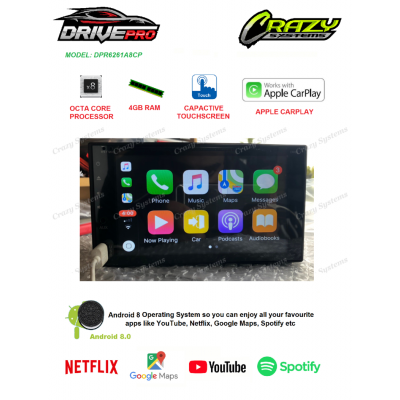 DrivePro Android 8.0 Carplay MirrorLink Bluetooth DVD GPS Octa Core Car Stereo