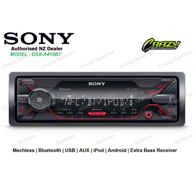 SONY DSX-A410BT Mechless Bluetooth USB AUX Stereo