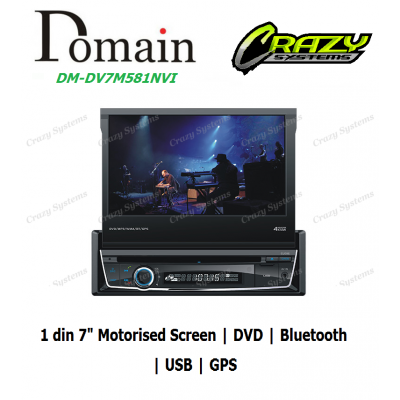Domain DM-DV7M58NVI 7 Inch DVD/RMVB/CD/MP3/USB with GPS & Bluetooth
