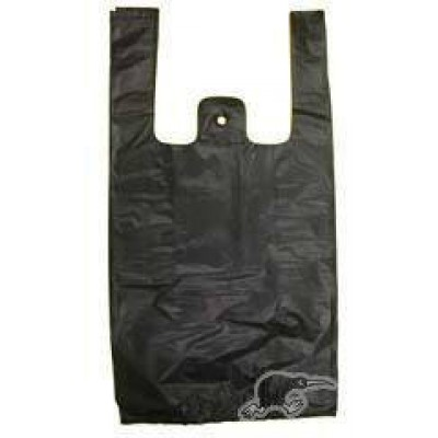 *Medium* Black T-Shirt Plastic Carry Bags *500pcs*